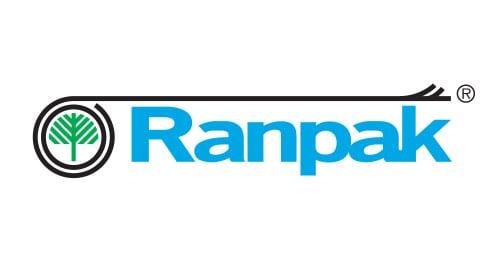 Ranpak logo wypełniacze, wypełniacze papierowe do paczek