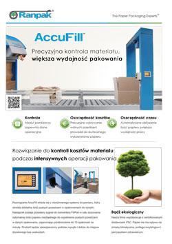 AccuFill Broszura - automatyczny system pakowania