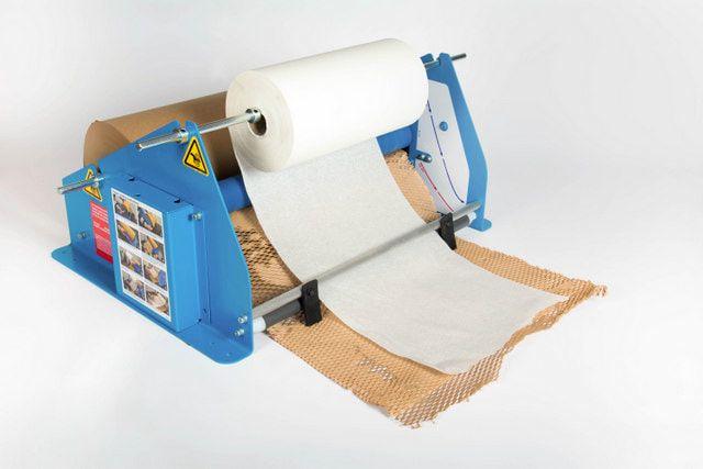 Urządzenie do pakowania ekologicznego Geami WrapPak M alternatywa folii bąbelkowej