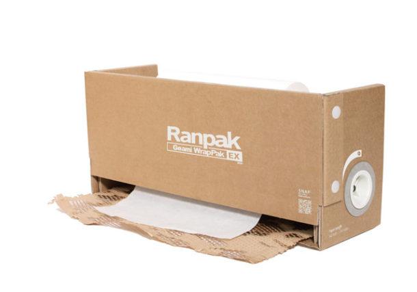 Urządzenie do pakowania ekologicznego Geami WrapPak EX Mini alternatywa folii bąbelkowej