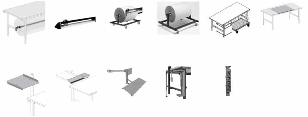 Wyposażenie stołów do pakowania systemu 1600 2