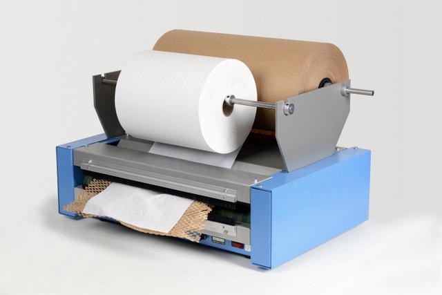 Urządzenie do pakowania ekologicznego Geami WrapPak HV alternatywa folii bąbelkowej
