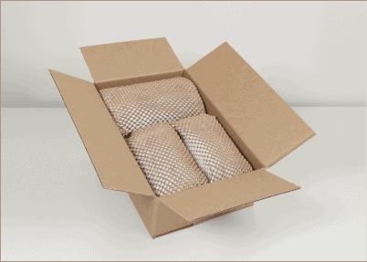 Wypełniacz papierowy typu plaster miodu